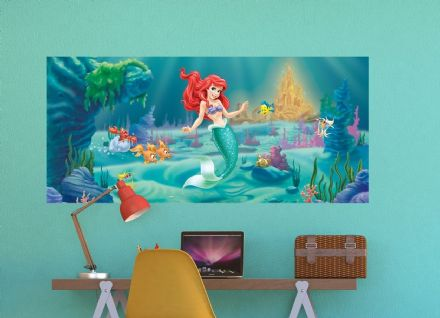 Ariel Mermaid mural wallpaper 202x90cm panoramic
